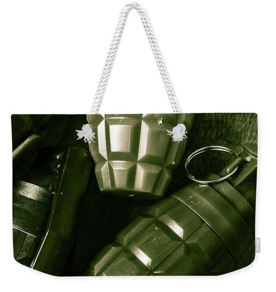 Army Green Grenades Weekender Tote Bag