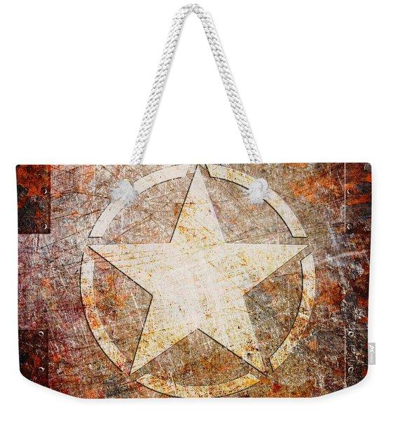 Army Star On Rust Weekender Tote Bag