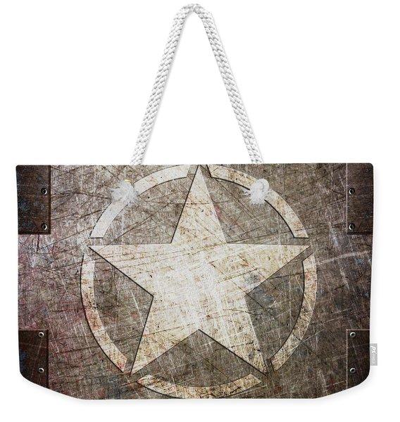 Army Star On Steel Weekender Tote Bag