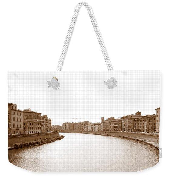 Arno River In Pisa Weekender Tote Bag