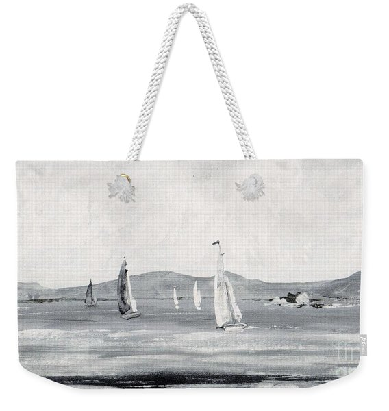 Weekender Tote Bag featuring the mixed media Around The Cape by Writermore Arts