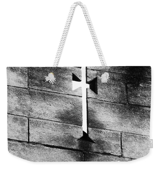 Arrow Slit Weekender Tote Bag