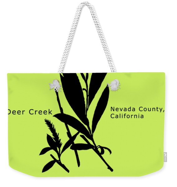 Arroyo Willow - Black Text Weekender Tote Bag