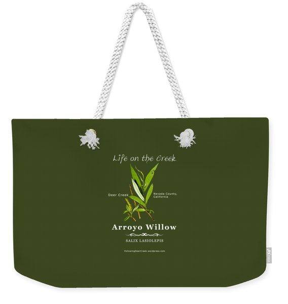 Arroyo Willow - Color Weekender Tote Bag