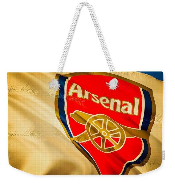 Arsenal F C  Weekender Tote Bag