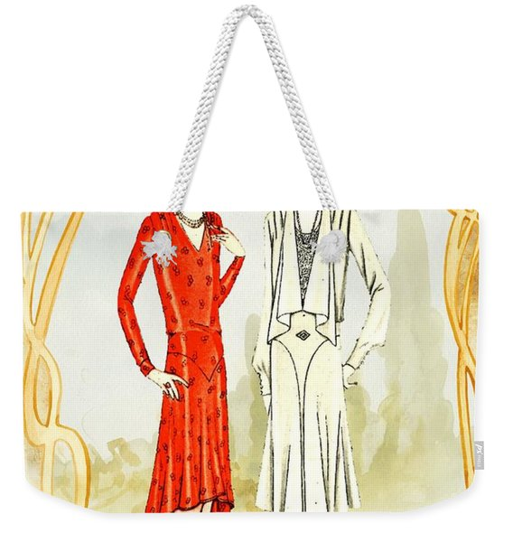 Art Deco Fashion Girls Weekender Tote Bag