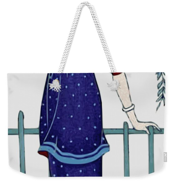 Art Deco Fashion Polka Dots Weekender Tote Bag