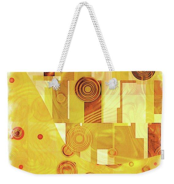 Art Deco Yellow Weekender Tote Bag