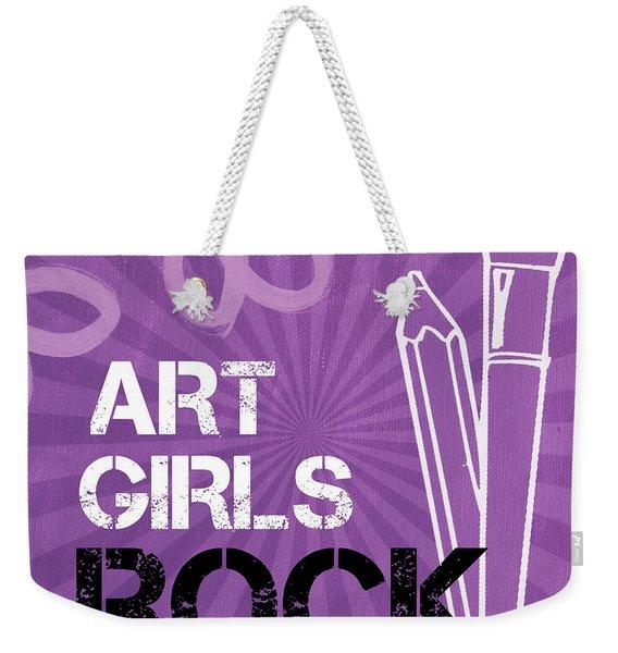 Art Girls Rock Weekender Tote Bag