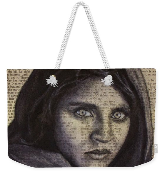 Art In The News 64-afghan Girl Weekender Tote Bag