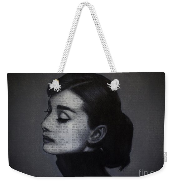 Art In The News 98-audrey Hepburn Weekender Tote Bag