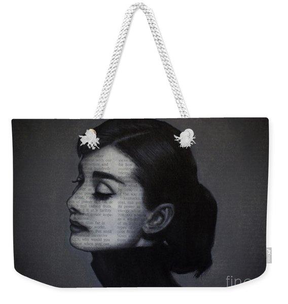 Art In The News 98-audrey Hepburn Weekender Tote Bag