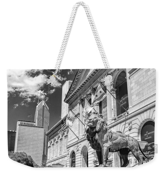 Art Institute In Chicago Black And White Weekender Tote Bag