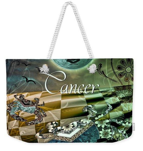 Art Nouveau Zodiac Cancer Weekender Tote Bag