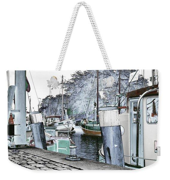 Art Print Boat 2 Weekender Tote Bag