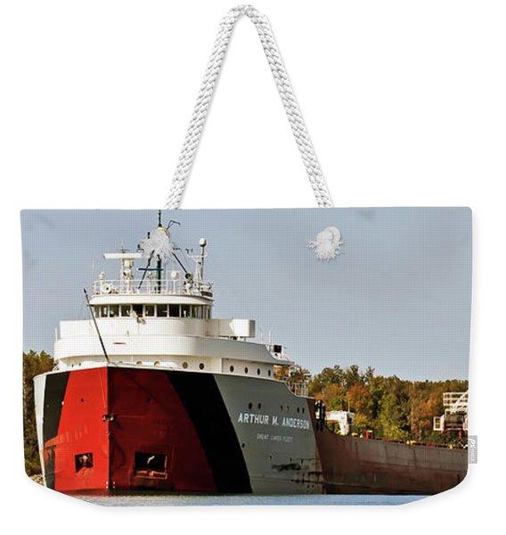 Arthur M Anderson Weekender Tote Bag