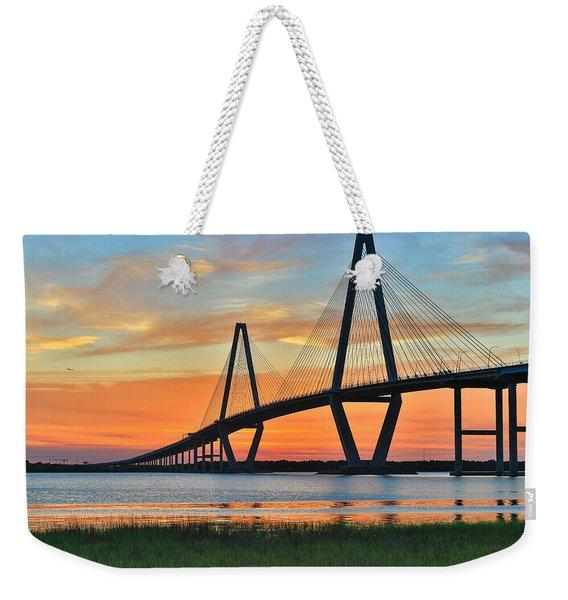 Arthur Ravenel Jr. Bridge At Dusk - Charleston Sc Weekender Tote Bag