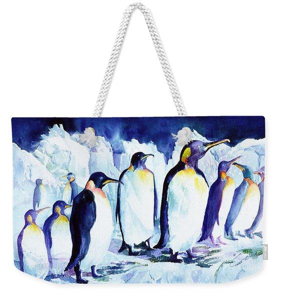 Arctic Penquins Weekender Tote Bag