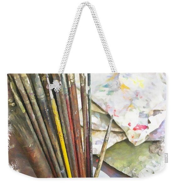 Artist Brushes  Weekender Tote Bag