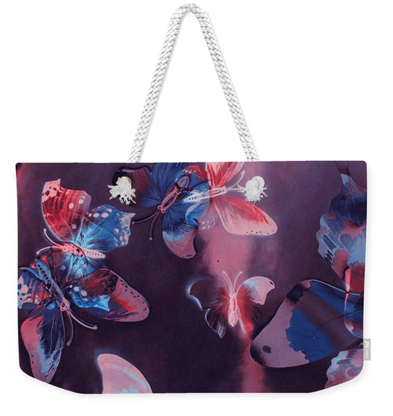 Artistic Colorful Butterfly Design Weekender Tote Bag