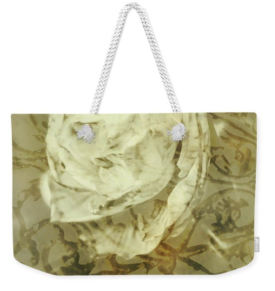 Artistic Vintage Floral Art With Double Overlay Weekender Tote Bag