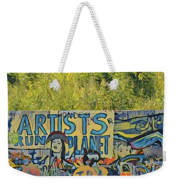 Artists Run The Planet Weekender Tote Bag