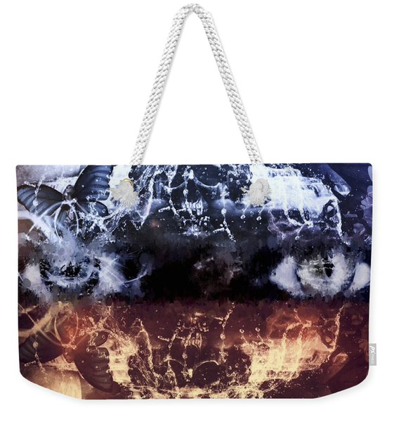 Weekender Tote Bag featuring the mixed media Artist's Vision by Al Matra