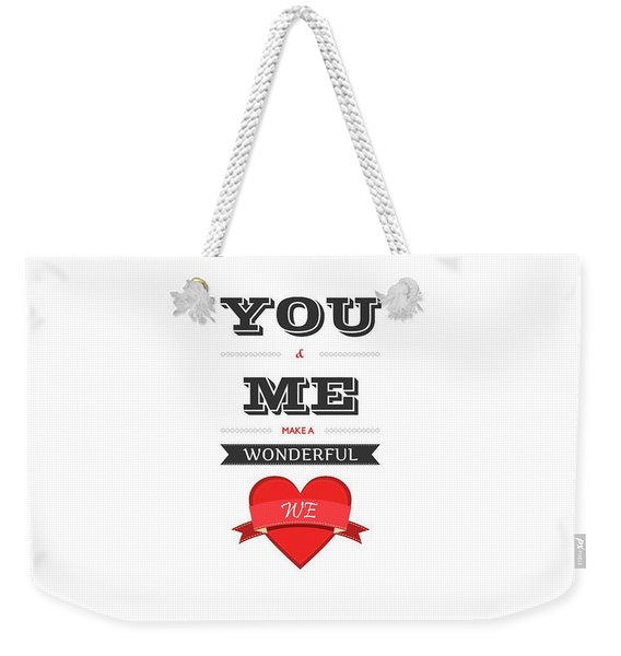 Love Lyrics Quotes Typography Quotes Poster Weekender Tote Bag