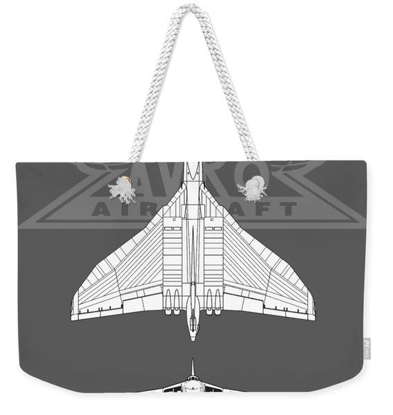 The Avro Vulcan Weekender Tote Bag