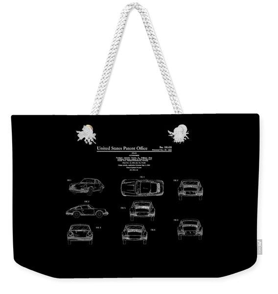 Porsche 911 Patent Weekender Tote Bag