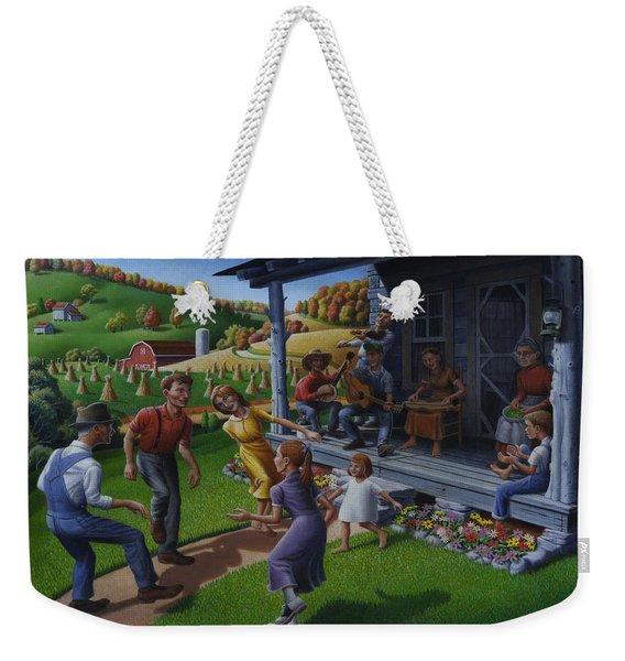 Porch Music And Flatfoot Dancing - Mountain Music - Appalachian Traditions - Appalachia Farm Weekender Tote Bag