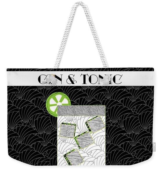 Gin And Tonic Cocktail Art Deco Swing   Weekender Tote Bag