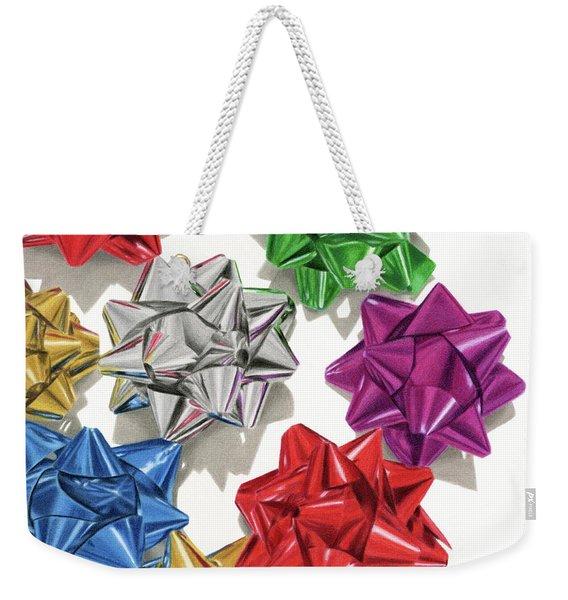 Christmas Bows And Shadows Weekender Tote Bag