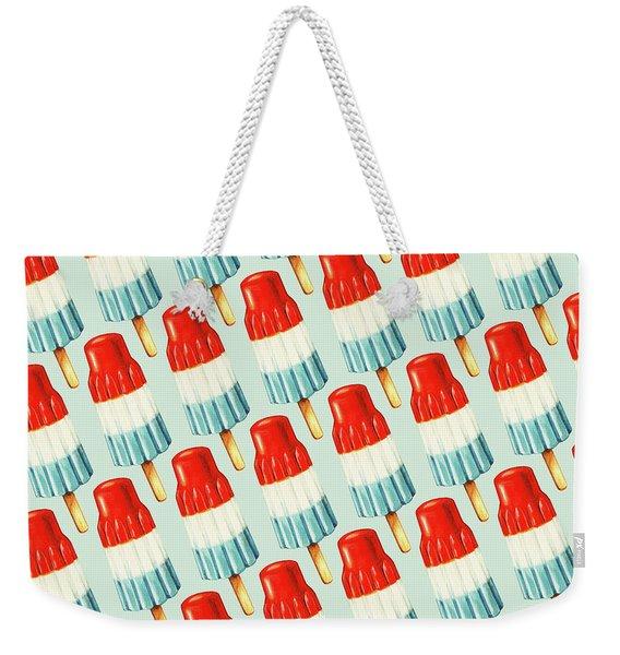 Bomb Pop Pattern Weekender Tote Bag