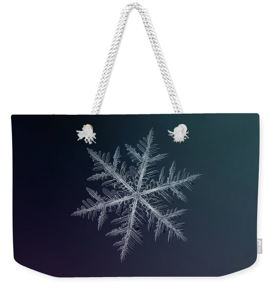 Snowflake Photo - Neon Weekender Tote Bag