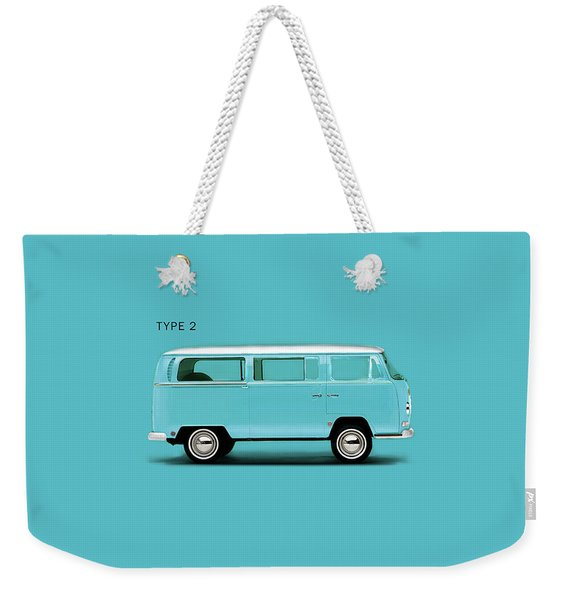 Sky Blue Type 2 Weekender Tote Bag