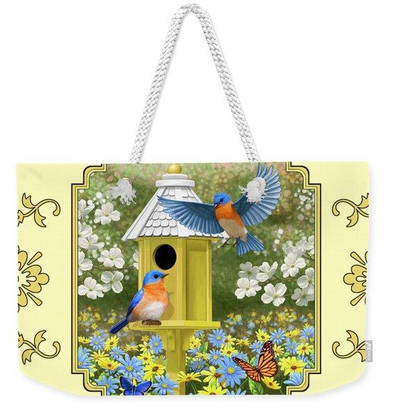Bluebird Garden Home Weekender Tote Bag