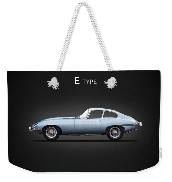 The E Type Weekender Tote Bag
