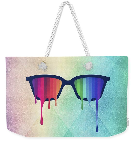Love Wins Rainbow - Spectrum Pride Hipster Nerd Glasses Weekender Tote Bag