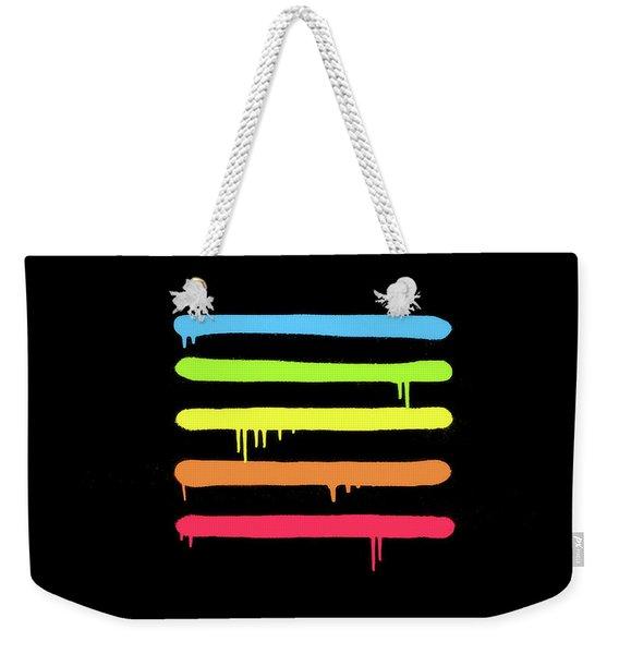 Trendy Cool Graffiti Tag Lines Weekender Tote Bag