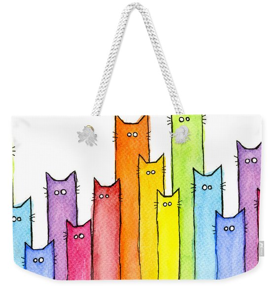 Rainbow Of Cats Weekender Tote Bag