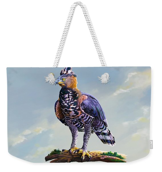 African Crowned Eagle  Weekender Tote Bag