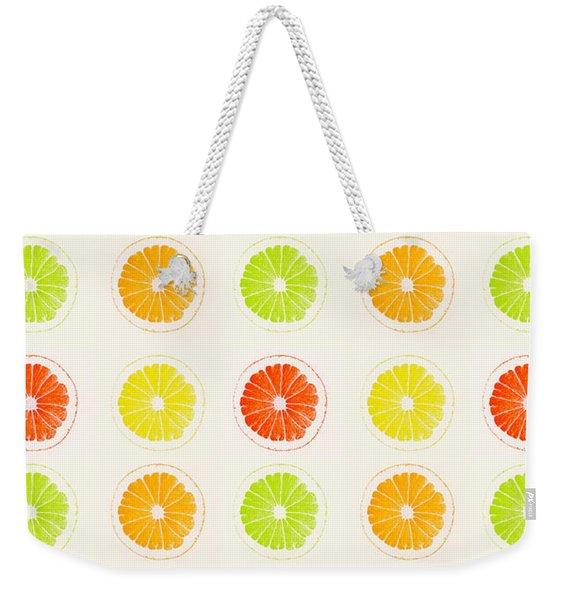 Juicy Citrus Weekender Tote Bag