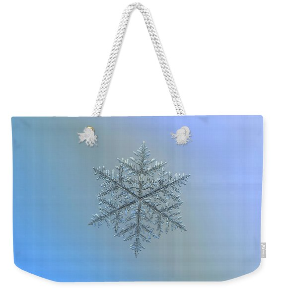Snowflake Photo - Majestic Crystal Weekender Tote Bag