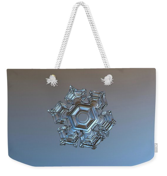 Snowflake Photo - Cold Metal Weekender Tote Bag