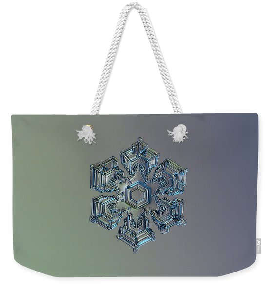Snowflake Photo - Silver Foil Weekender Tote Bag