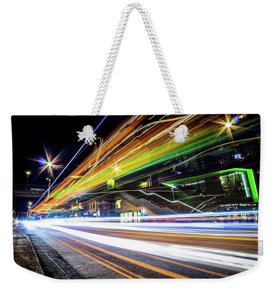 Light Trails 1 Weekender Tote Bag