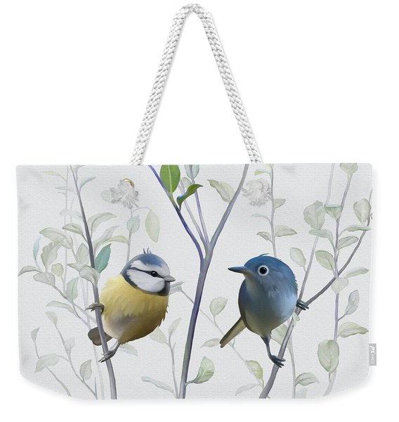 Birds In Tree Weekender Tote Bag