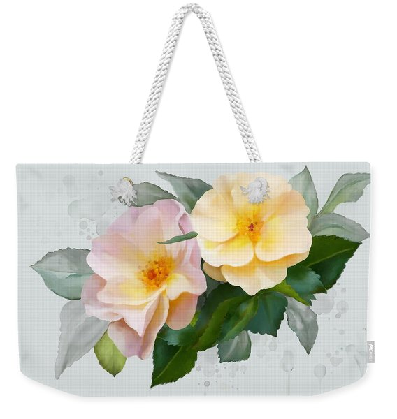 Two Wild Roses Weekender Tote Bag