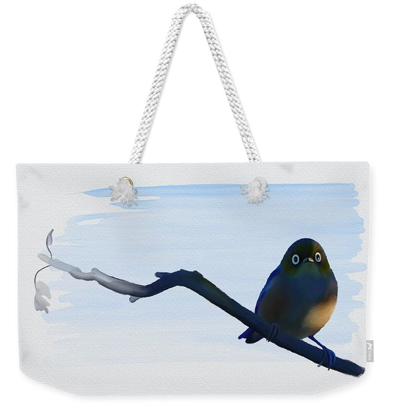 Eye To Eye With Silvereye Weekender Tote Bag